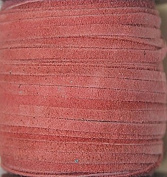 2.5mm Width - Very Thin Suede Lace (0.5-0.7 Thickness) - Genuine Suede Leather - 25 Yards Per Spool - Available in Many Colours (Dark Pink