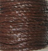 Genuine Leather * High Quality * 2mm-flat - 2 Strands - Twisted - 3 Colours - Natural, Black, Red Brown - Packing of 1 Yard, 5 Yards, 10 Yards in Hank & 25 Yards in Spool (5 Yards, Red Brown