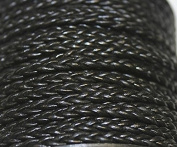 Genuine Leather - * High Quality * 1mm-3 Strands - Braided - 3 Colours - Natural, Black, Red Brown - In 1 Yard, 5 Yard, 10 Yards Hank Packing & 25 Yards Spool Packing (1 Yard, Black