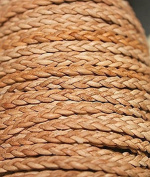 Genuine Leather - * High Quality * 1mm-3 Strands - Braided - 3 Colours - Natural, Black, Red Brown - In 1 Yard, 5 Yard, 10 Yards Hank Packing & 25 Yards Spool Packing (5 Yards, Natural