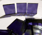 FortySevenGems 100 Pieces Stained Glass Mosaic Tiles 1.3cm Purple Glass Textured