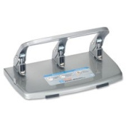 "3-Hole Punch, Steel, 40 Sht Cap.,0.7cm "",Silver, Sold as 1 Each"