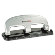 Three-Hole Punch, 20 Sheet Capacity, Black/Silver, Sold as 1 Each