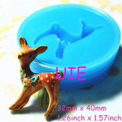 023LBD Kawaii Deer Flexible Silicone Push Mould Decoration Mould Mini Resin Mould