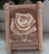 Creativemoldstore 1pcs Bamboo & Rose (zx270) Craft Art Silicone Soap Mould Craft Moulds DIY Handmade Soap Mould
