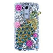EVTECH(TM) 3D Handmade Crystal Bead Rhinestone Diamond Bling Cover Hard Clear Case for LG G4 H815 H818