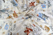 100% Pure Mulberry Silk Charmuse Floral Fabric 45 Wide for Bedding Dress By the Yard or By Half Yard