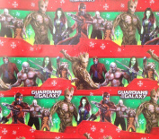 """Guardians of the Galaxy"" Star Lord, Gamora, Drax, Groot, and Rocket Red/Green Wrapping Paper Gift Wrap"