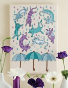 It Rains Cats and Dogs,but We Have Umbrella,32*44cm Cross Stitch,dmc Cross Stitches