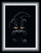 Charivna Mut' New Counted Cross Stitch Kit - Black Cat