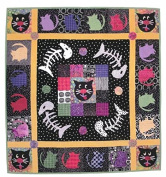 Pattern - Wish Cats - Fusible Applique Wallhanging - 100cm x 100cm