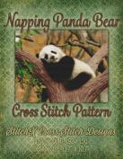Napping Panda Bear Cross Stitch Pattern