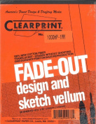 Clearprint Fade-Out Design and Sketch Vellum - Grid 1 mm 8 1/2 in. x 11 in. pack of 50 sheets