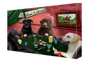 House of Labradors Dogs Playing Poker Canvas 11 x 14