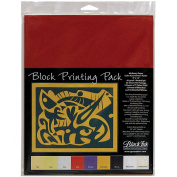 Block Printing Assortment Pack By Black Ink Papers-23cm x 30cm 45/Pkg