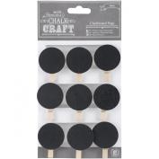 Chalk Craft Chalkboard Pegs 9/Pkg-Circles