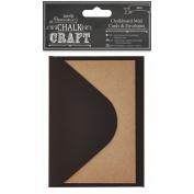 Chalk Craft Mini Chalkboard Cards & Envelopes 6/Pkg-