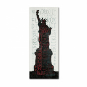 Trademark Fine Art Statue of Liberty by Michael Mullan Wall Decor, 20cm by 48cm