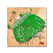 Trademark Fine Art Snap Purse Green by Roderick Stevens Wall Decor, 90cm by 90cm