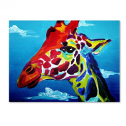 Trademark Fine Art Giraffe Artwork by DawgArt, 36cm by 48cm
