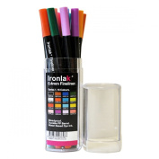 Ironlak 0.4mm Fineliner - Series 1 - Professional Fine Tip Art Design Draught Blackbook Pens 16 Colours - with Premium Acrylic Case