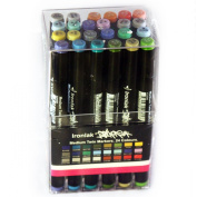 Ironlak Strikers Medium Twin Markers 24 Colours Series 2