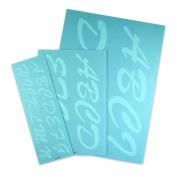 Cosco Stencil Kit, Letters, Transparent Plastic Script 1-7.6cm