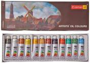Camel Artist's Oil Colour Box - 9Ml Tubes, 12 Shades