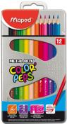 Maped Colour Pencils - Metal Box Of 12 Pcs