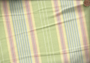140cm wide green pastel stripe Moda Home