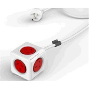 Allocacoc 1.5m Extended  Red 5 Outlets stackable mountable modern reinvention PowerCube