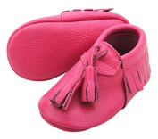 Leather Baby Moccasin with Hanging Tassel (6-12 month