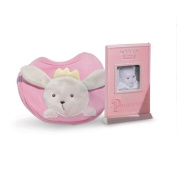 Pink/Blue Princess Photo Frame & Bib Set