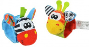 Moomba Infant Baby Soft Toy Wrist Rattles Socks Developmental Sozzy-hot 2015-1pair