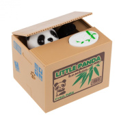 LEMONBEST Cute Itazura Stealing Coin Bank Cents Penny Buck Saving Money Box Pot Case Piggy Bank Panda