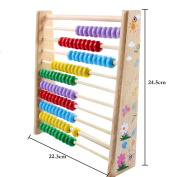 EITC Baby Kids Educational Toy Wooden Abacus Multicolor Beads Counting Number Maths Learning Gift Toy
