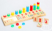 Baby Digital Learning Cognitive Colour Numbers Corresponding to the Wooden Educational Toys