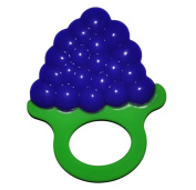 YH Baby Teething Toys Best Infant Teething Pain Relief 100% Safe and Fun Soft Grape Teethers with Rings - BPA Free, FDA Approved Frutti Teether Toys