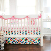 New Arrivals Crib Rail Cover, Uptown In Hot Pink