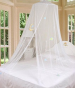 White Good Night Bed Canopy Mosquito Netting with Hook