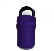 Baby Bottle Tote Bag-This Purple Thermal Bottle Carrier Keeps Your Infant's Bottles Warm And Cool -This Insulated Bottle Tote Bags Fits All Brands And Size of Baby Bottles Plus Bottled Water Juice Boxes Snack Cups-Perfect for lunch boxes- purple Travel ..