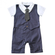 Infant Baby Boy Bowknot Gentleman Plaid Romper Sun Hat Outfit