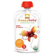 Nurture Inc. (Happy Baby), Organic Baby Food, Stage 2, 6+ Months, Apple & Cherry, 100ml (99 g)