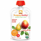 Nurture Inc. (Happy Baby), Organic Baby Food, Stage 2, 6+ Months, Spinach, Mango & Pear, 100ml (99 g)