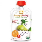 Nurture Inc. (Happy Baby), Organic Baby Food, Broccoli, Peas & Pear, Stage 2, 6+ Months, 100ml (99 g)