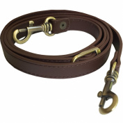 1.6cm Wide Chocolate Brown Adjustable Replacement Cross Body Purse Strap Handbag Bag Wallet Nickel-, Antique Brass-, or Brass-Tone Hardware