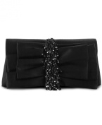 Jessica Mcclintock Satin Bow Evening Clutch Black