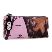 Mossy Oak Western Half Zip-Around Canvas Wallet with Twist & Lock