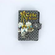 Credit Card Holder, Book Style, French Vintage Design