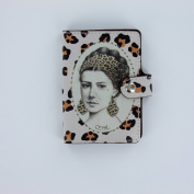 Credit Card Holder, Book Style, French Vintage Design